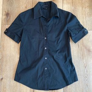 Theory Black Button Down Shirt